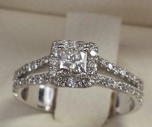 princess cut halo diamond rings with small stones